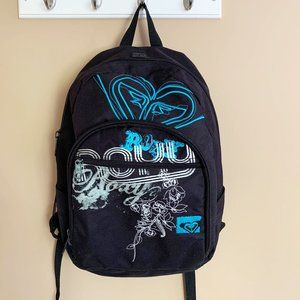 ROXY Black Printed Graphic Backpack